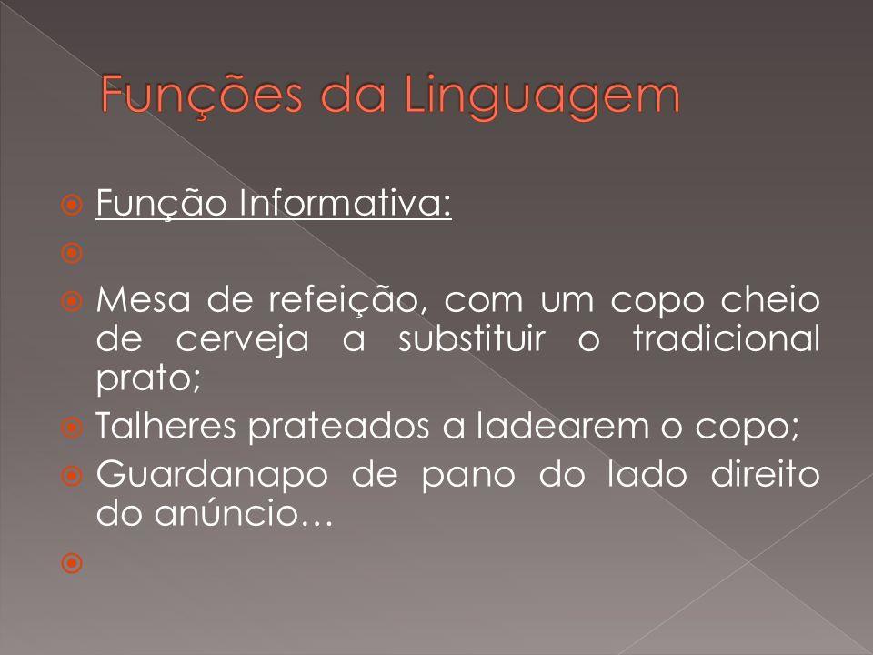 Funções da Linguagem Função Informativa: