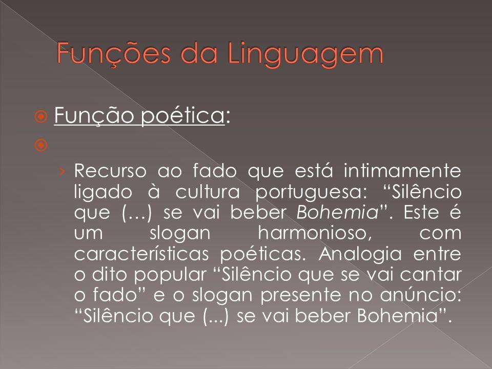 Funções da Linguagem Função poética: