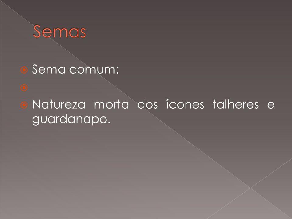 Semas Sema comum: Natureza morta dos ícones talheres e guardanapo.