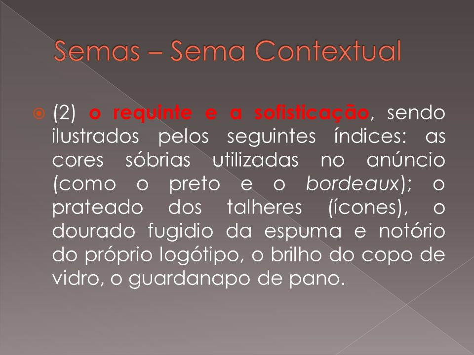 Semas – Sema Contextual