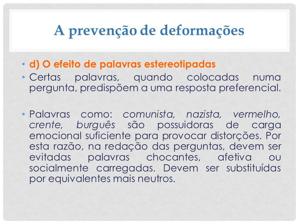 A prevenção de deformações