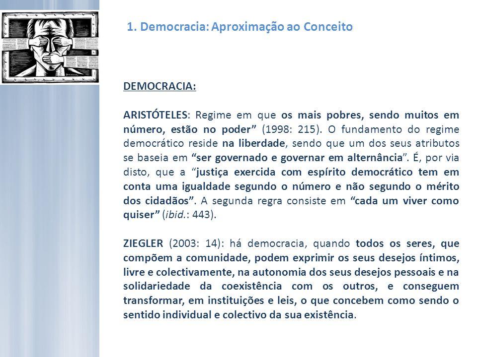 1. Democracia: Aproximação ao Conceito