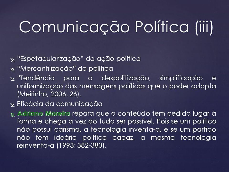 Comunicação Política (iii)
