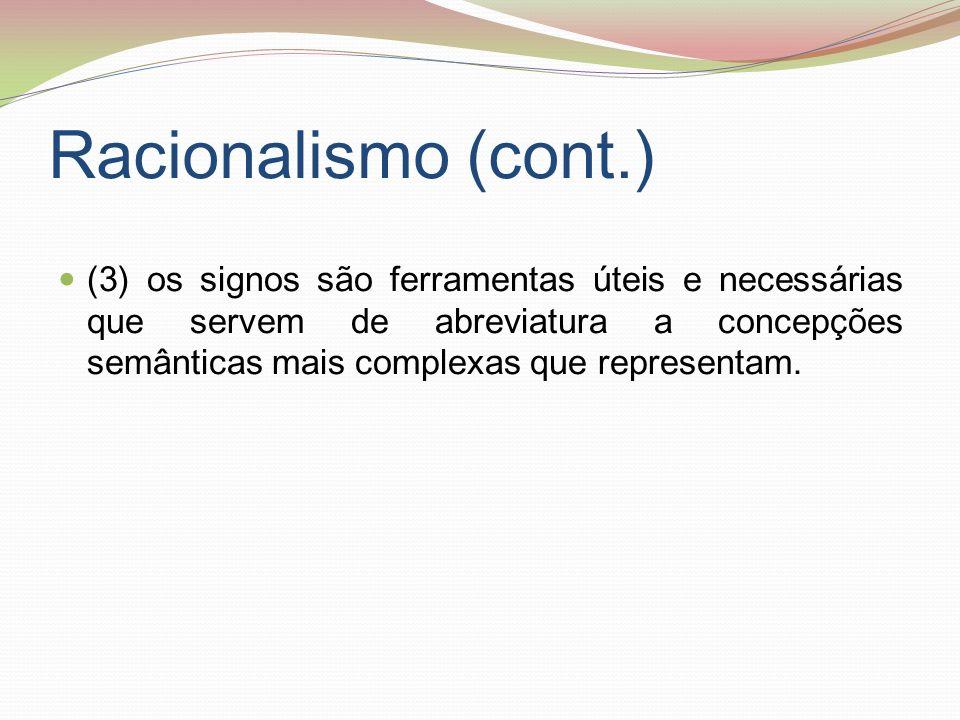 Racionalismo (cont.)