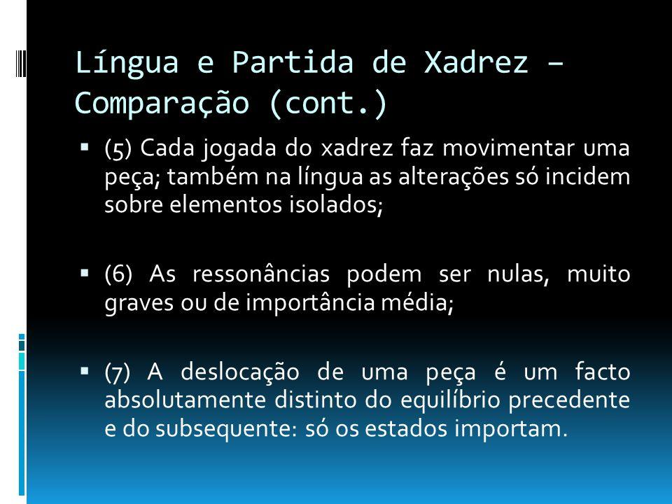 Língua e Partida de Xadrez – Comparação (cont.)