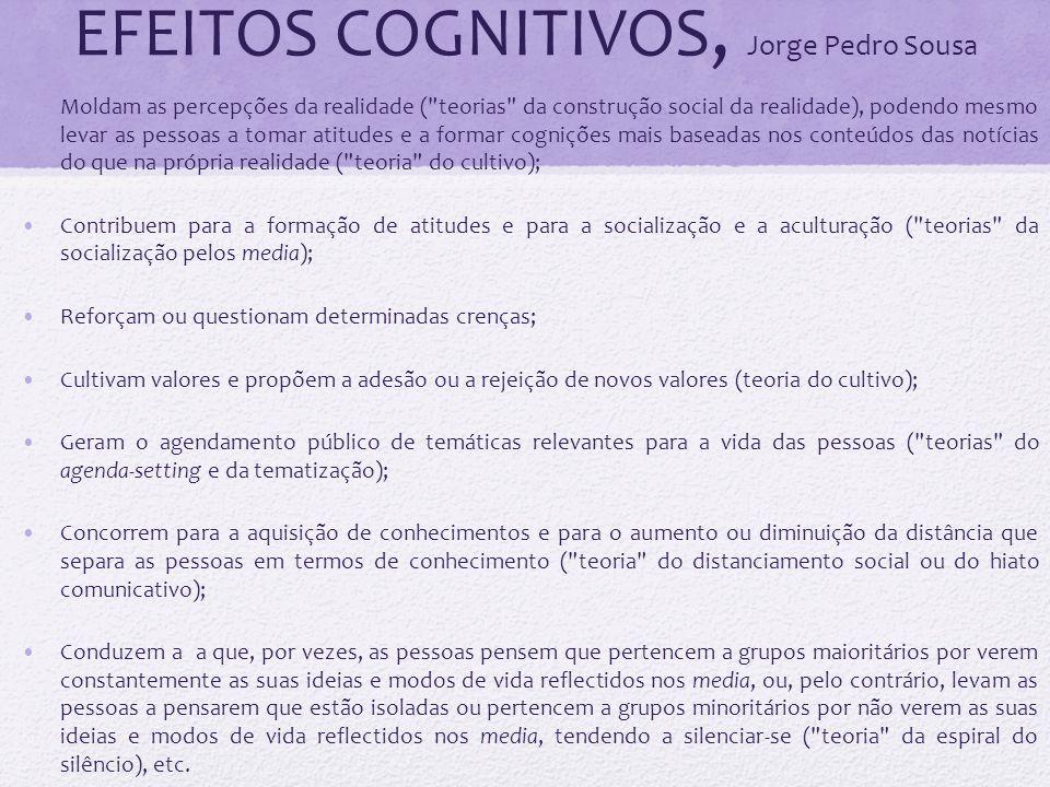 EFEITOS COGNITIVOS, Jorge Pedro Sousa