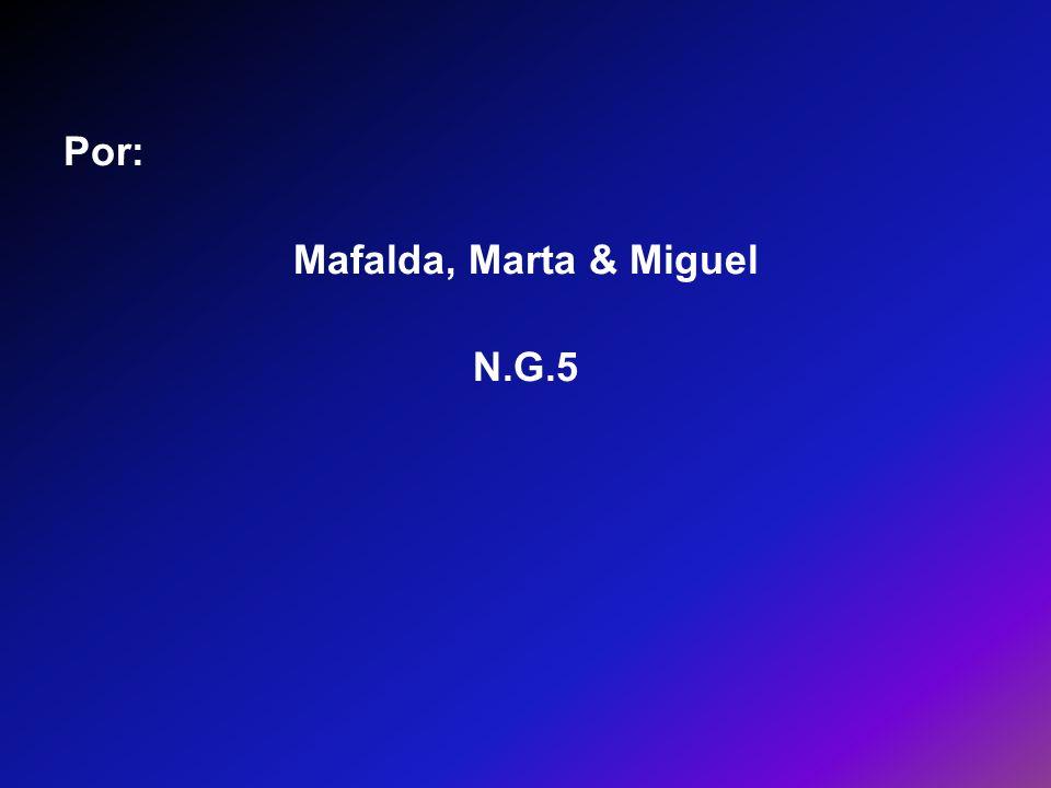 Por: Mafalda, Marta & Miguel N.G.5
