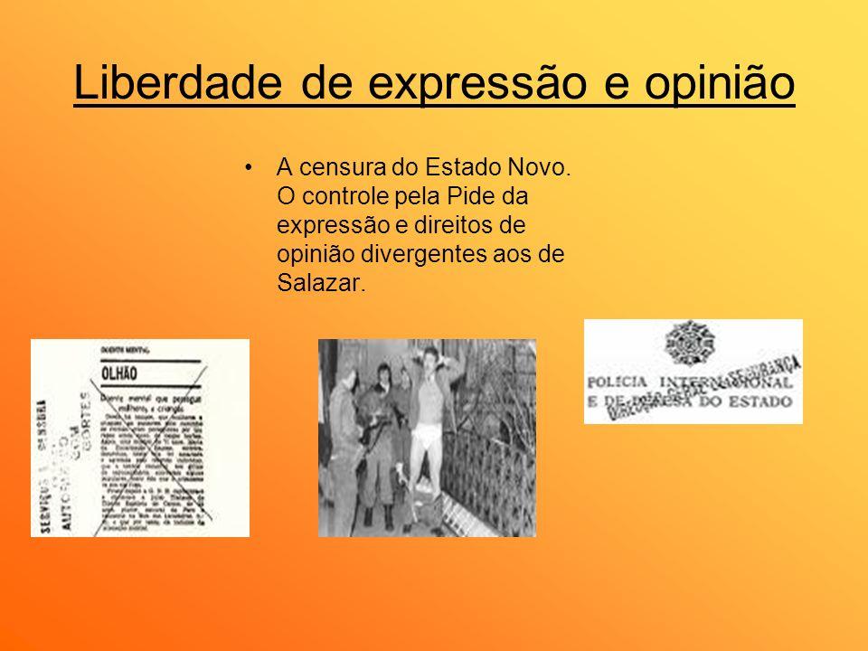 Liberdade de expressão e opinião