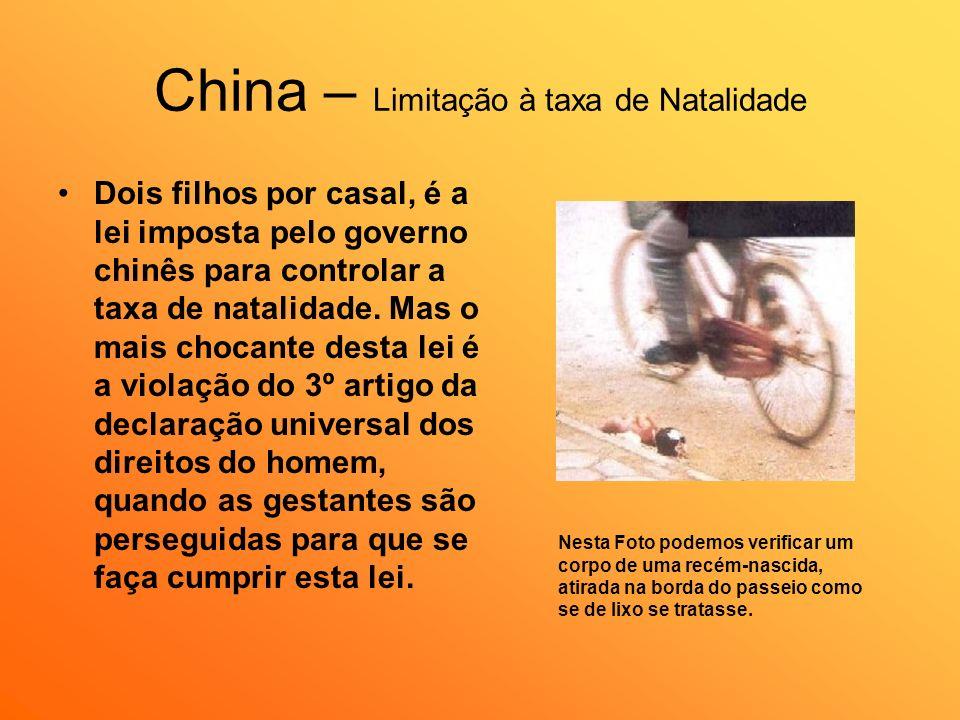 China – Limitação à taxa de Natalidade