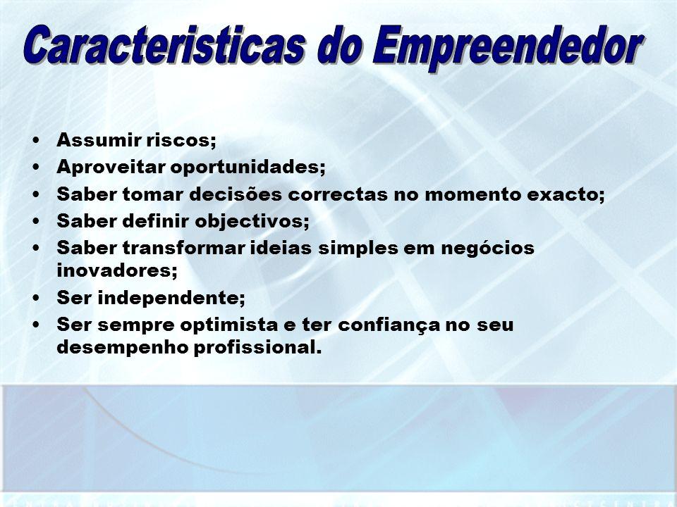 Caracteristicas do Empreendedor