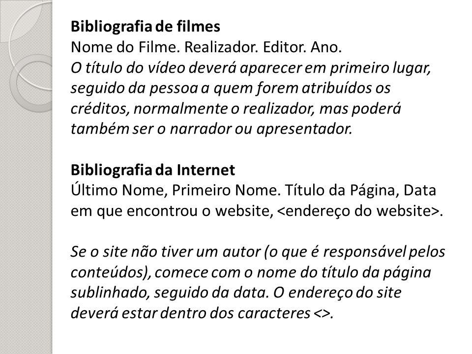 Bibliografia de filmes