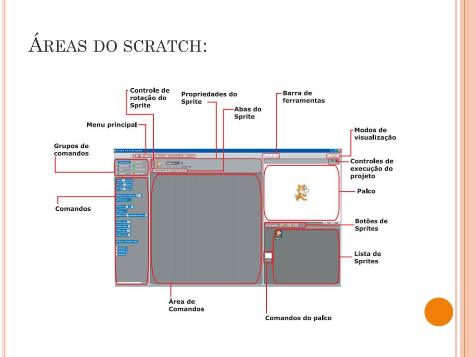 Áreas do scratch: