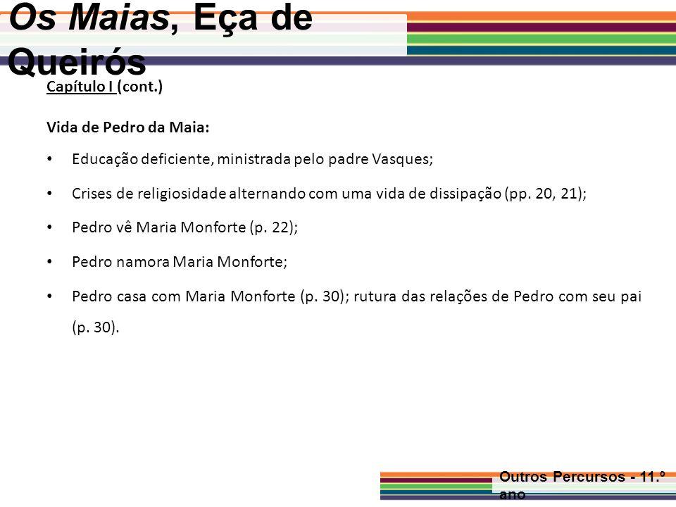 Os Maias, Eça de Queirós Capítulo I (cont.) Vida de Pedro da Maia: