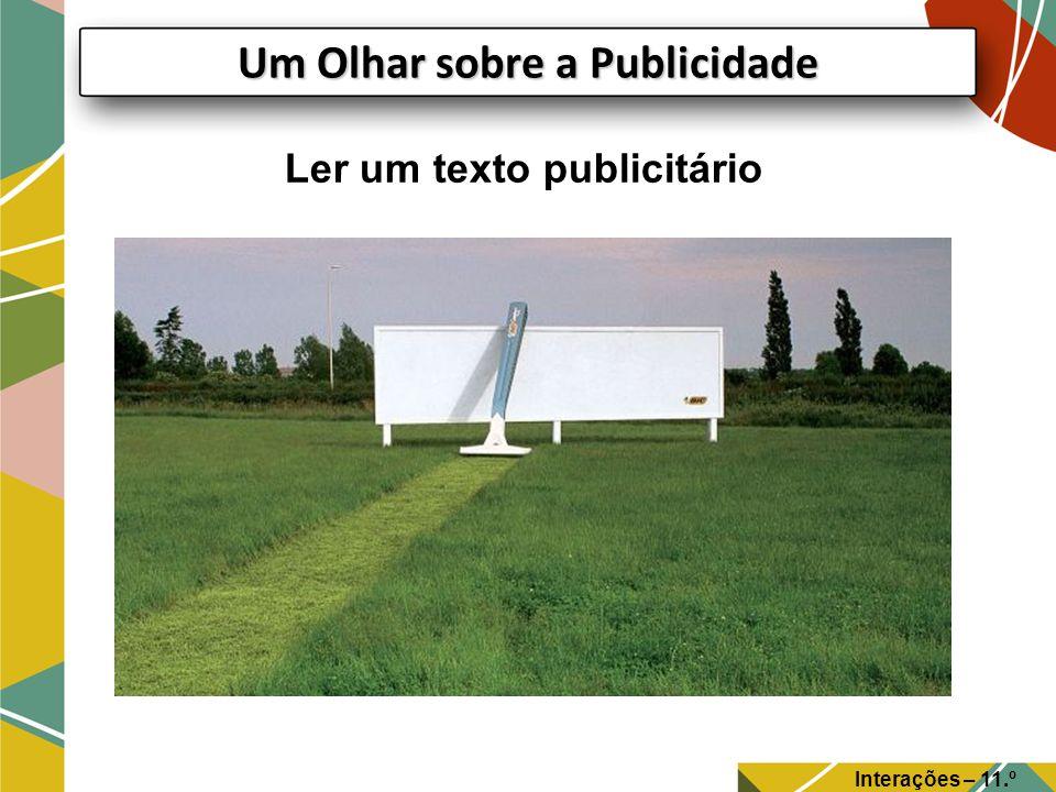 Um Olhar sobre a Publicidade Ler um texto publicitário