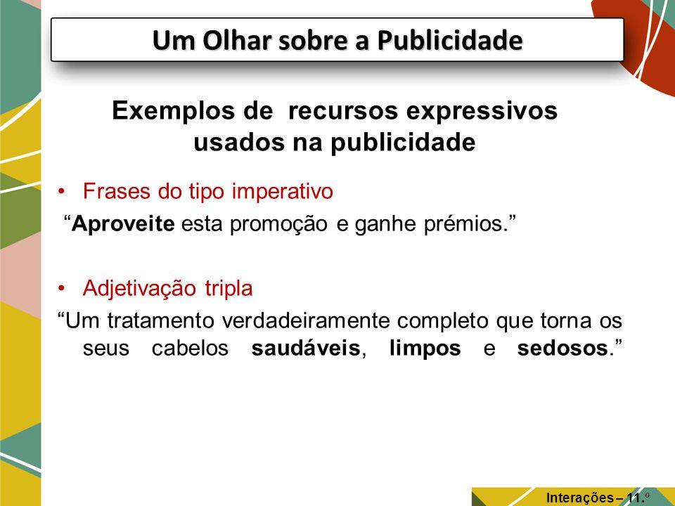 Exemplos de recursos expressivos usados na publicidade