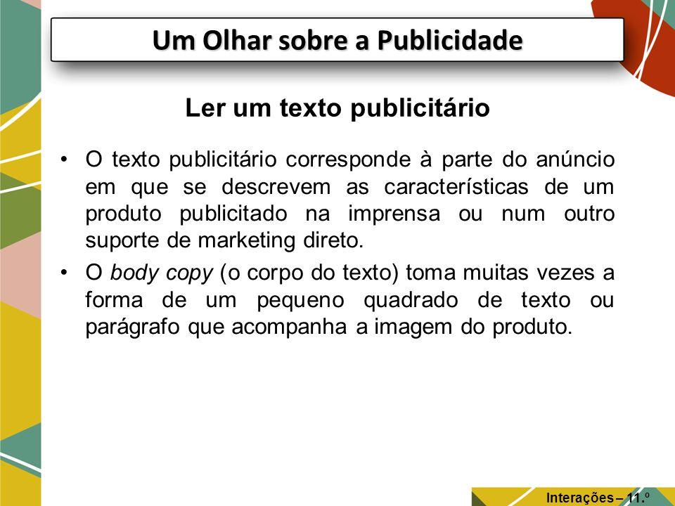 Ler um texto publicitário