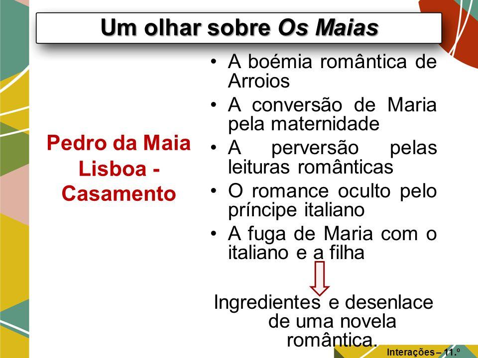 Pedro da Maia Lisboa - Casamento