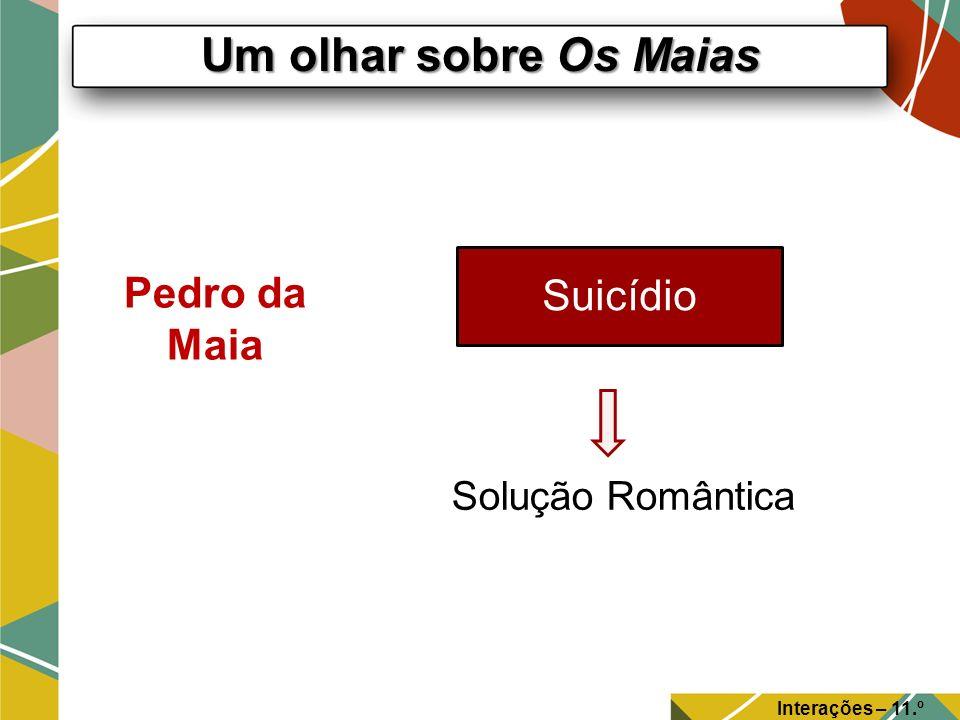 Um olhar sobre Os Maias Suicídio Pedro da Maia Solução Romântica