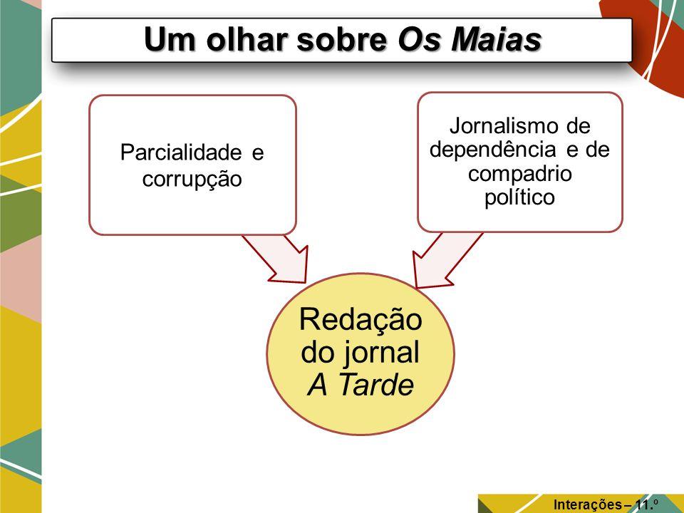Um olhar sobre Os Maias Redação do jornal A Tarde. Parcialidade e corrupção. Jornalismo de dependência e de compadrio político.