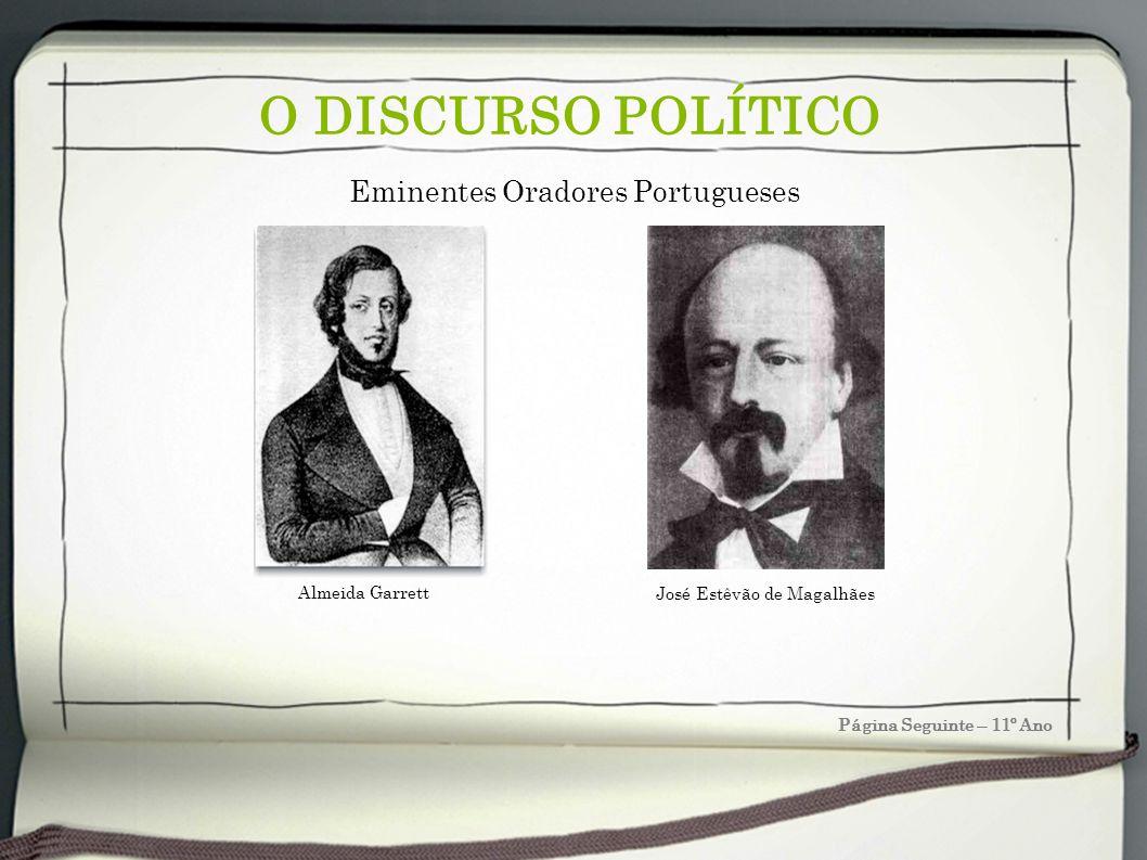 O DISCURSO POLÍTICO Eminentes Oradores Portugueses Almeida Garrett