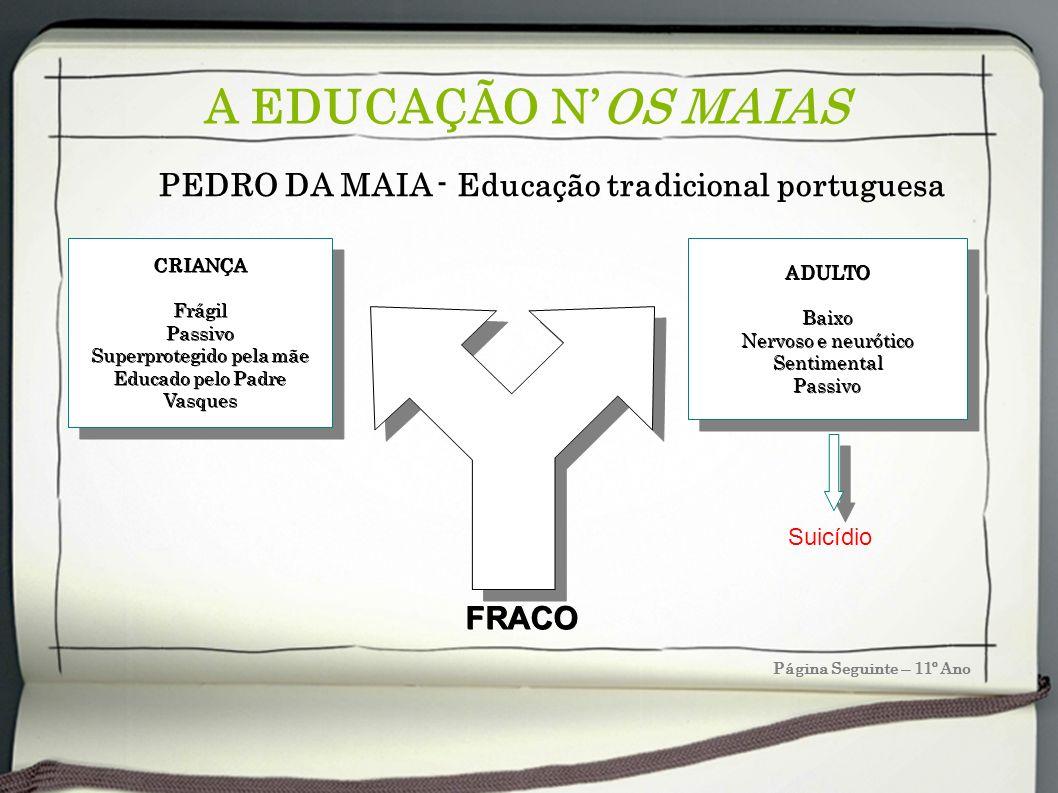PEDRO DA MAIA - Educação tradicional portuguesa