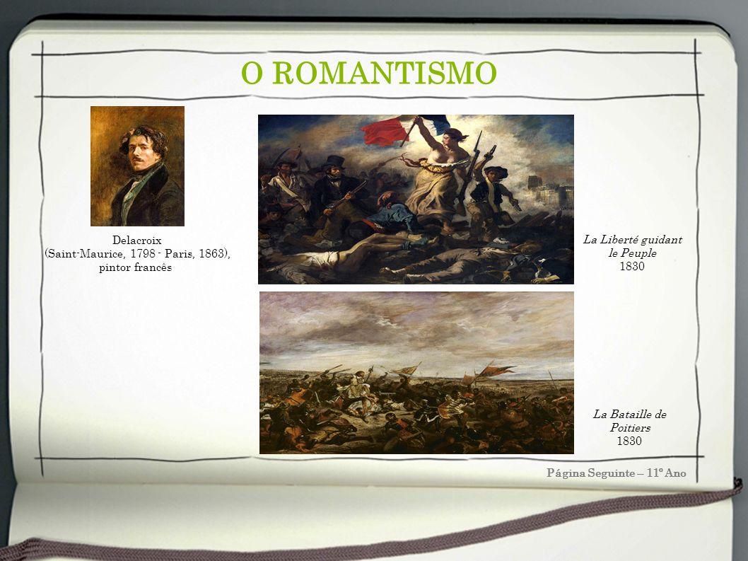 O ROMANTISMO Delacroix La Liberté guidant le Peuple
