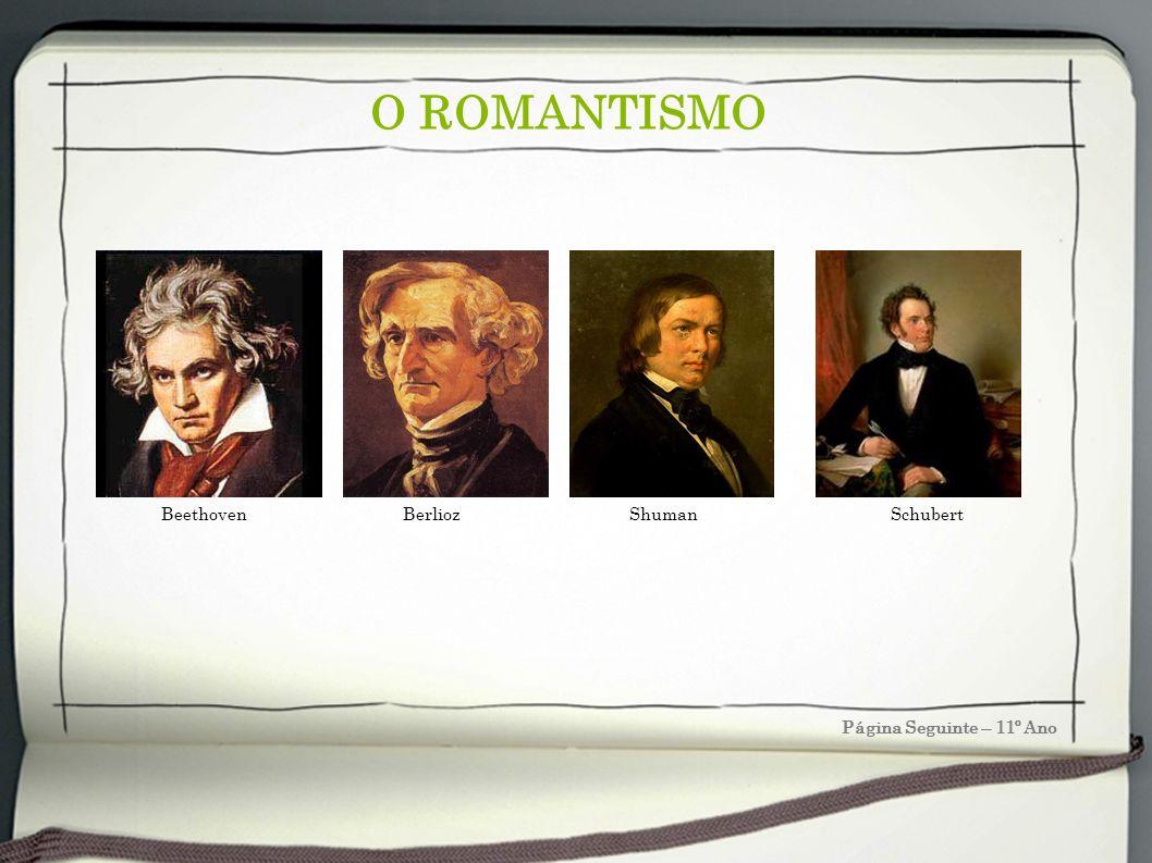 O ROMANTISMO Beethoven Berlioz Shuman Schubert