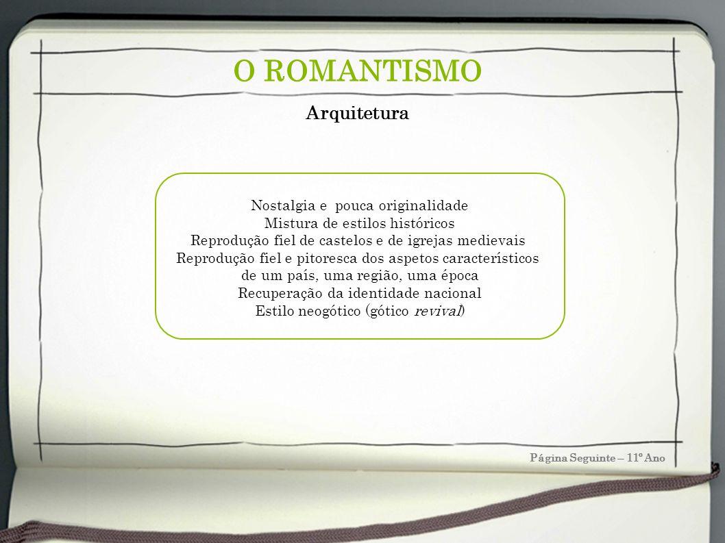 O ROMANTISMO Arquitetura Nostalgia e pouca originalidade