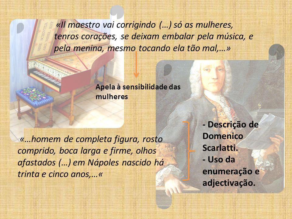 - Descrição de Domenico Scarlatti.