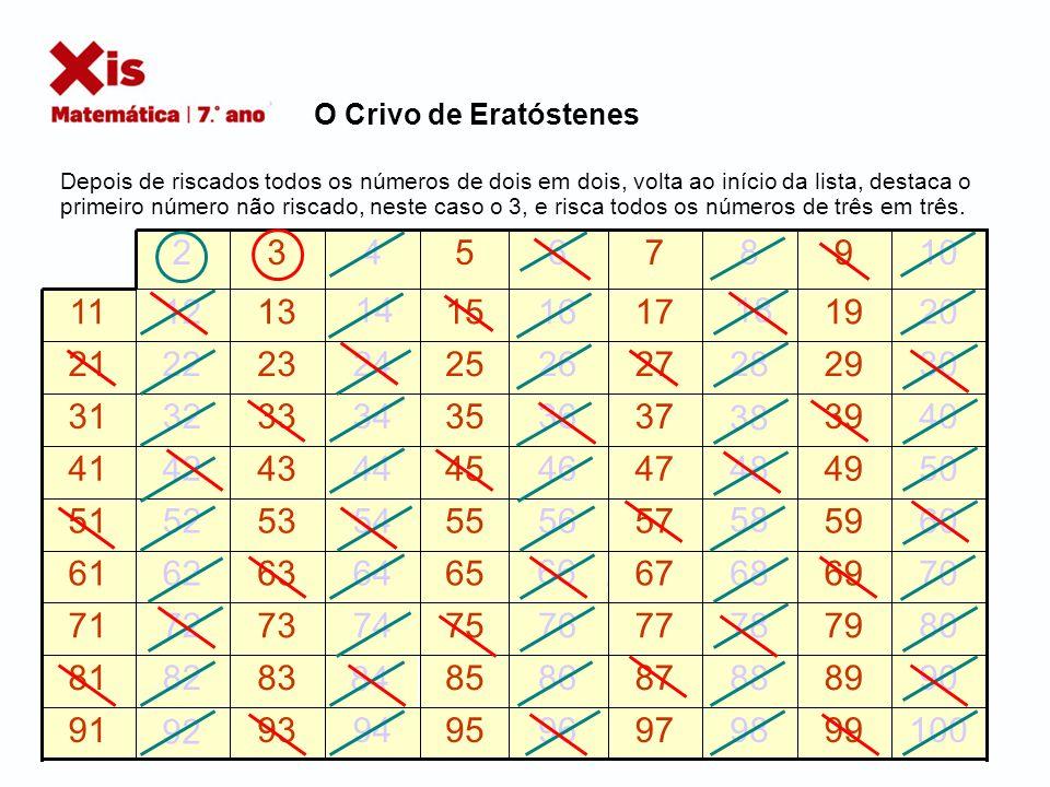 O Crivo de Eratóstenes