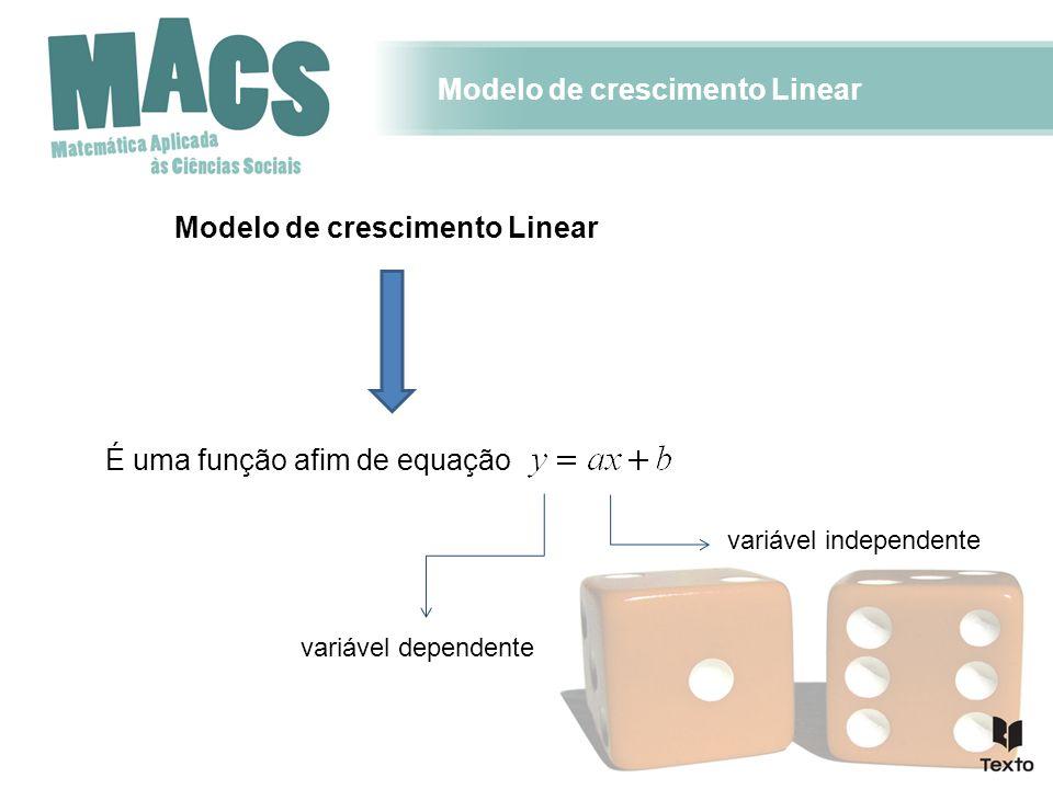 Modelo de crescimento Linear