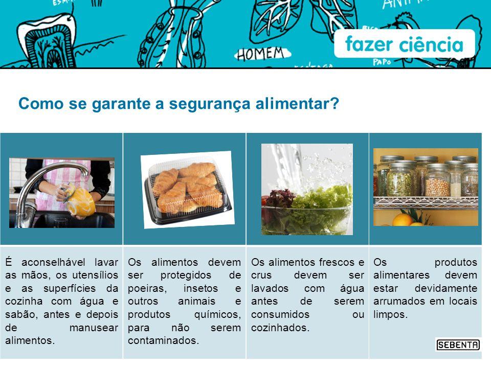 Como se garante a segurança alimentar