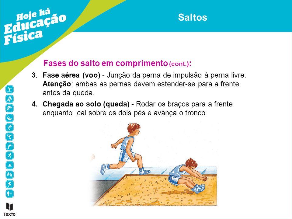 Saltos Fases do salto em comprimento (cont.):