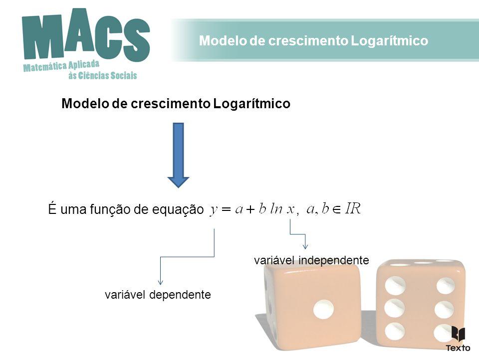 Modelo de crescimento Logarítmico