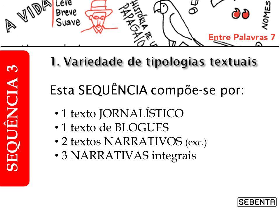 1. Variedade de tipologias textuais