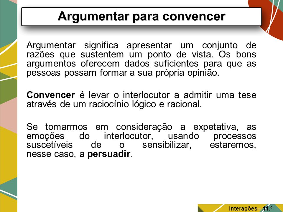 Argumentar para convencer