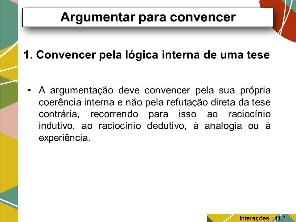 1. Convencer pela lógica interna de uma tese