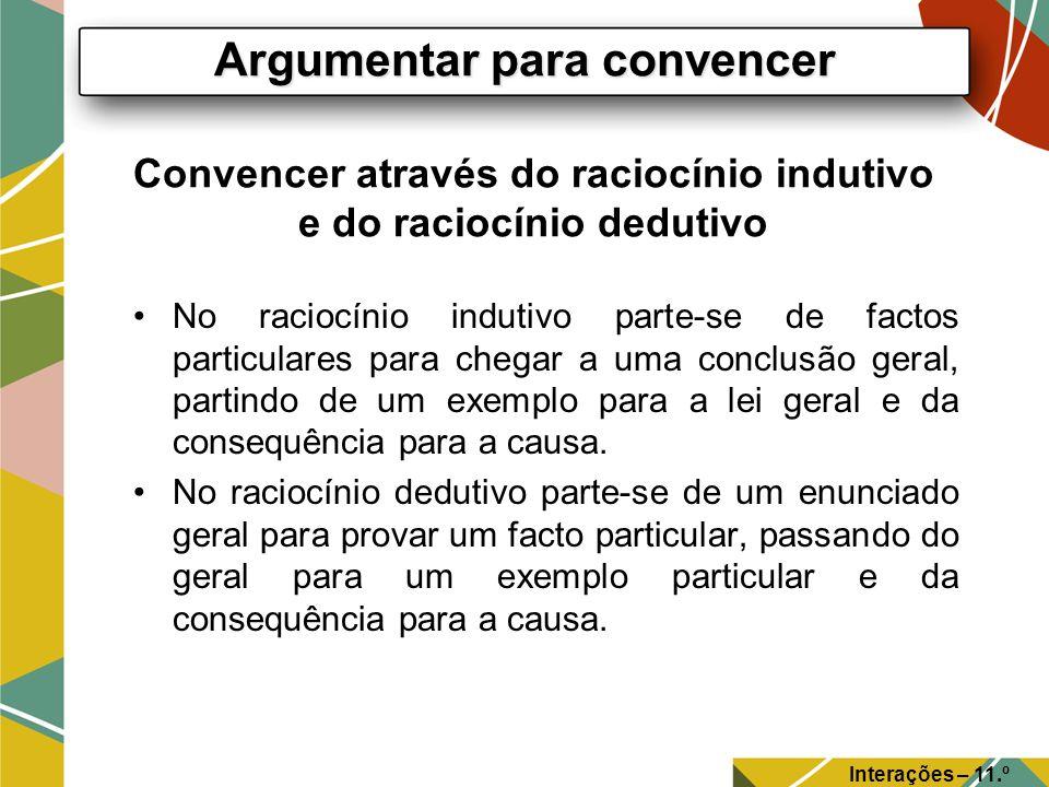 Convencer através do raciocínio indutivo e do raciocínio dedutivo
