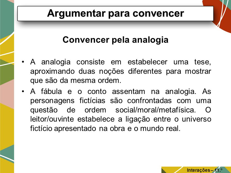 Convencer pela analogia