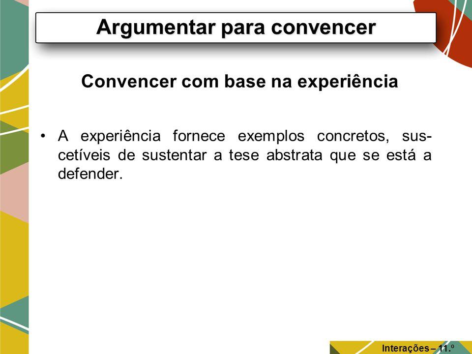 Convencer com base na experiência