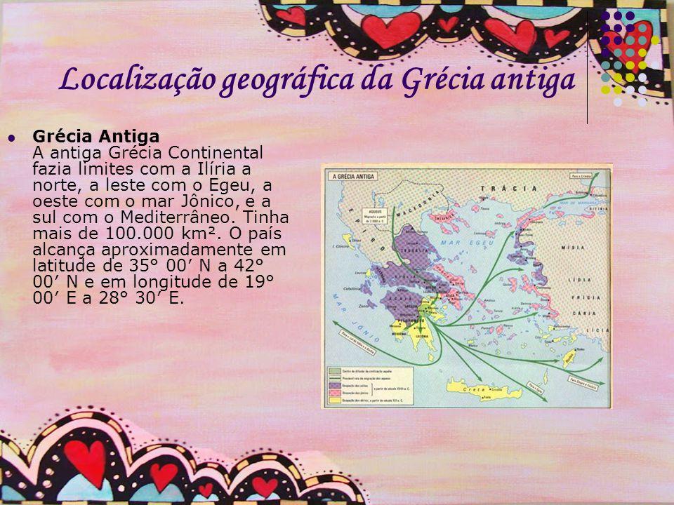 Localização geográfica da Grécia antiga