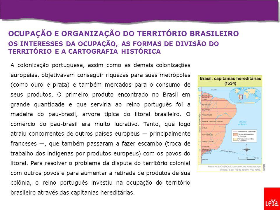 OCUPAÇÃO E ORGANIZAÇÃO DO TERRITÓRIO BRASILEIRO