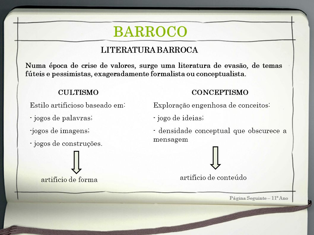 BARROCO LITERATURA BARROCA