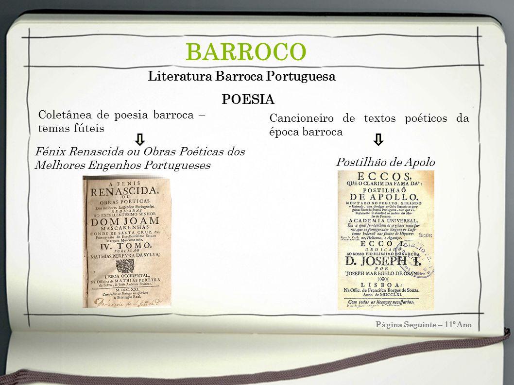 BARROCO Literatura Barroca Portuguesa POESIA