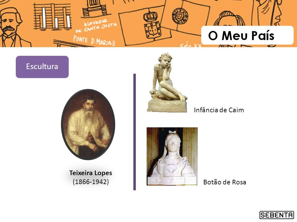 Escultura Infância de Caim Teixeira Lopes (1866-1942) Botão de Rosa