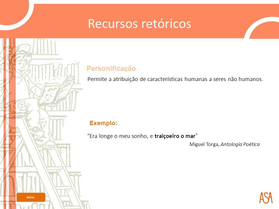 Recursos retóricos Personificação Miguel Torga, Antologia Poética
