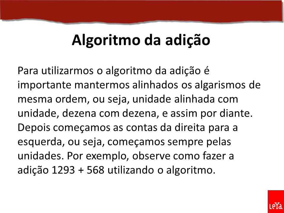 Algoritmo da adição