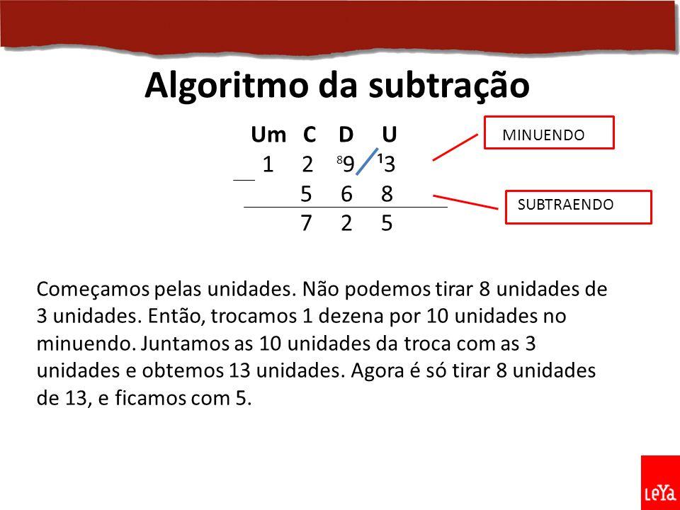 Algoritmo da subtração
