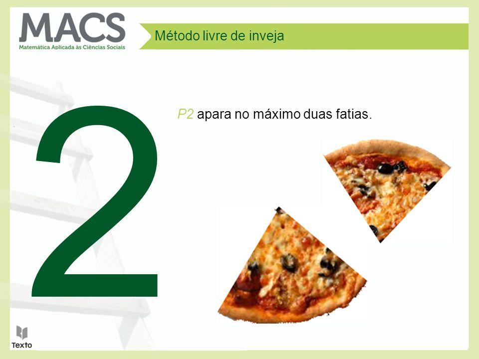Método livre de inveja 2 P2 apara no máximo duas fatias.