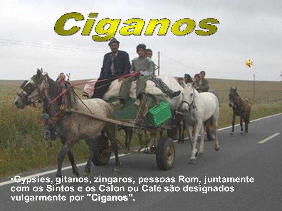 CiganosGypsies, gitanos, zíngaros, pessoas Rom, juntamente com os Sintos e os Calon ou Calé são designados vulgarmente por Ciganos .